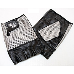 Defender Silver Large Leather Fingerless Gloves 9124393