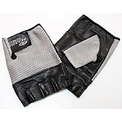 Defender Silver Medium Leather Fingerless Gloves 9124394