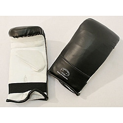 Defender Black/ White Medium MMA Style Punching Gloves