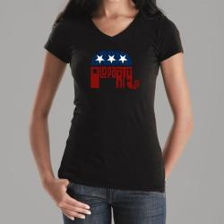 Los Angeles Pop Art Women's GOP V-Neck