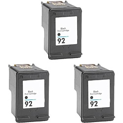 Hewlett Packard 92 Black Ink Cartridge (Pack of 3) (Remanufactured)