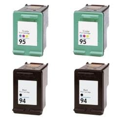 Hewlett Packard HP 94/95 Black / Color Ink Cartridge (Pack of 4) (Remanufactured)