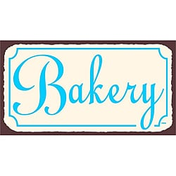 Vintage Metal Art 'Bakery' Tin Kitchen Wall Sign 9127723