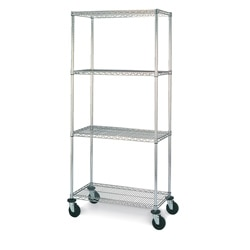 Olympic Four-Shelf Mobile Unit in Chrome Finish