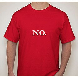 Men's 'No.' Red Cotton T-Shirt