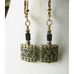 'Isis' Metal Earrings