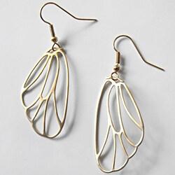Adrienne Audrey Jewelry 14K Gold Butterfly Wing Earrings 9138251
