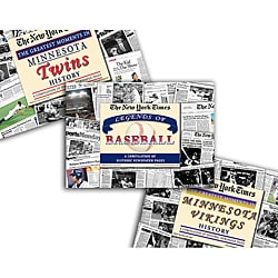 Collectible Newspaper Vikings History, Twins History, and The Legends of Baseball Gift Set