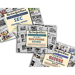 Collectible Newspaper Greatest Moments in Gators, Dolphins, and SEC History Gift Set