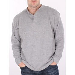 Farmall IH Men's Heather Grey Thermal Henley