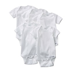 Gerber White Onesies (Pack of 5)