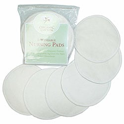 ABC Organic Natural Cotton Nursing Pads (Pack of 6)