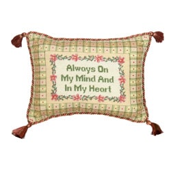 """Always on my mind..."" Petit-point Pillow"