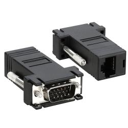 INSTEN Black VGA Extender to RJ45 Adapter (Pack of 2)