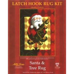 Santa and Tree Latch Hook Kit