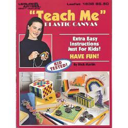 Leisure Arts-Teach Me Plastic Canvas