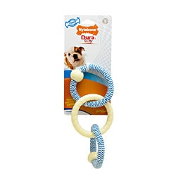 Nylabone 'Dura Toy' Puppy Rope N' Rings Small Blue Chew Toy