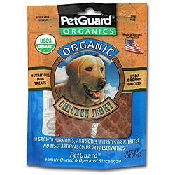 Petguard 3-ounce Organic Chicken Jerky for Dogs