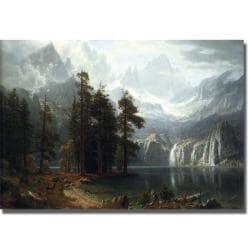 Albert Bierstadt 'Sierra Nevada in California' Canvas Art