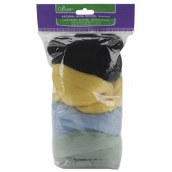 Clover Natural Wool Roving .7-Ounces 4/Pkg