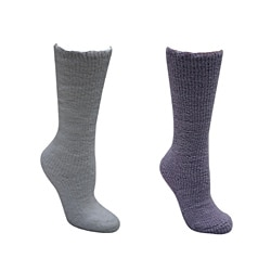 Muk Luks Machine-Washable Women's Micro-Chenille Knee-High Socks (Two Pairs)
