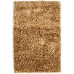 Hand-woven Gold South Hampton Soft Plush Shag Rug (3'6 x 5'6)