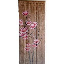 Bamboo Curtain Pink Flowers (Vietnam)