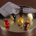 Saro Durable Classic Enamel Napkin Rings (Set of 4)