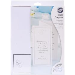 Tri-Fold Invitation Kit 50/Pkg-Sweet Hearts