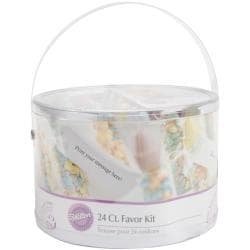 Baby Bottle Favor Kit 24/Pkg-Multi Pastel
