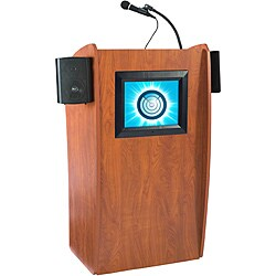 The Vision Floor Lectern with Sound and Digital Display by Oklahoma Sound 9195982