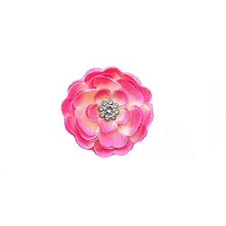 Boutique Pink Flower Clip