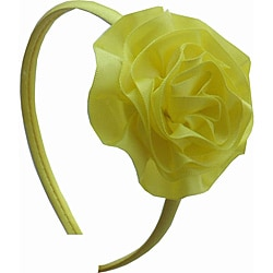 Satin Ruffle Flower Headband