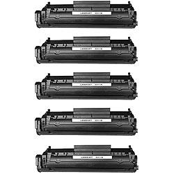 Hewlett Packard Q2612A Black Toner Cartridges (Pack of 5) (Remanufactured)