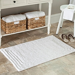 Safavieh Spa 2400 Gram Luxury White 21 x 34 Bath Rug (Set of 2)