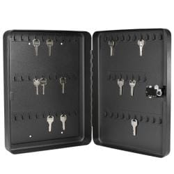60-position Black Steel Key Cabinet Safe with Combination Lock