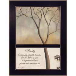 """'Family Tree' Black Framed Print (10.25"""" x 14"""")"""