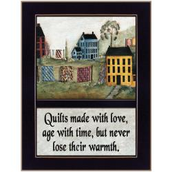 "'Quilts Made With Love' Black Framed Print (10.25"" x 14"")"