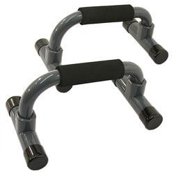 Gray Plastic Non-slip Push-up Bars for Increased Muscle Development