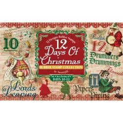 Rubber Stamp Set-12 Days Of Christmas Set 4 Days 10-12