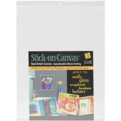 "Stick On Artist Canvas 3/Pkg-11""X14"""