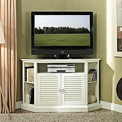 52 in. White Wood Corner TV Stand best buy