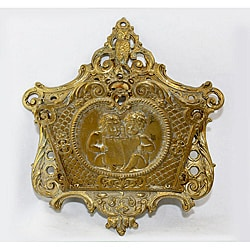 Antique Finish Wall Mount Victorian Brass Letter Holder (India)