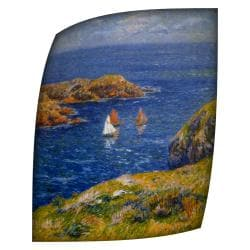 Henri Moret Calm Seas Rolled Canvas Art (18 x 24)
