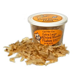 Cat-Man-Doo Extra-large Dried Bonito Tuna Flakes - 0.5 Ounces