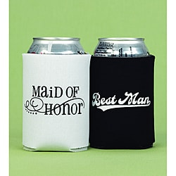 Maid of Honor & Best Man Can Coolers