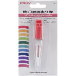 "Simplicity Bias Tape Machine Tip -1/8"" Single Fold"