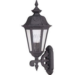 Cortland Arm Up 3-light Satin Iron Ore Wall Sconce