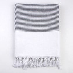 Turkish Stripe Black/White Fouta Bath/ BeachTowel