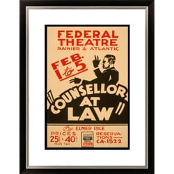 Elmer Rice 'Counsellor at Law' Framed Limited Edition Giclee Art